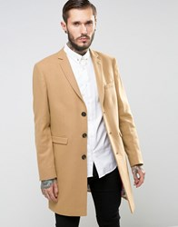 Noose And Monkey Overcoat Camel Tan