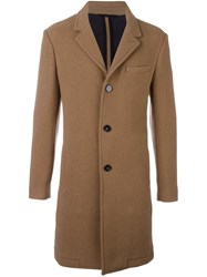 Carven Single Breasted Coat Nude Neutrals