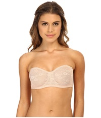 Ongossamer Stretch Lace Strapless Bandeau Bra 015601 Champagne Women's Bra Gold