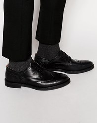 Selected Homme Marc Brogue Shoes Black