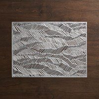Cb2 Chilewich A Drift Silver Placemat