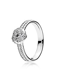 Pandora Design Pandora Ring Sterling Silver And Cubic Zirconia Sparkling Love Knot