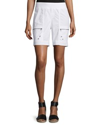 Xcvi Camarillo Zip Pocket Pull On Shorts White