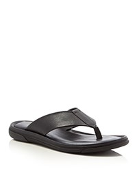 To Boot New York Bowery Embossed Leather Thong Sandals Nero