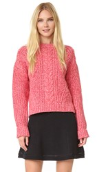 Carven Sweater Rouge Rose