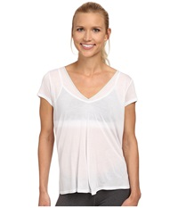 Alo Yoga Rown Short Sleeve Top Whitestone Women's T Shirt Pewter