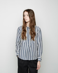 Apiece Apart Maryna Striped Tunic Navy And White