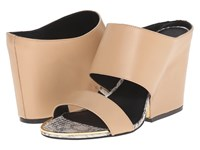 Calvin Klein Cali Sandstorm Leather Women's Dress Sandals Pink