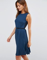 Lavand Belted Dress B Blue