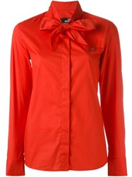 Love Moschino Heart Detail Foulard Shirt Red