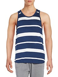 Alternative Apparel Striped Cotton And Modal Tank Midnight Bold