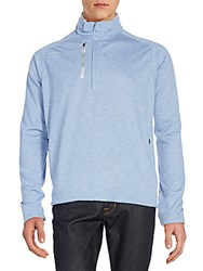Zero Restriction Mockneck Raglan Sleeve Half Zip Top Titan Heather