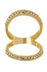 Ariella Collection Pave Open Face Ring White