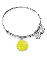 Alex And Ani Team Usa Tennis Expandable Wire Bangle Shiny Silver