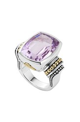 Women's Lagos 'Caviar Color' Large Semiprecious Stone Ring Rose De France
