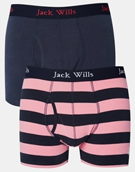 Jack Wills Chetwood Trunks In 2 Pack Navypink