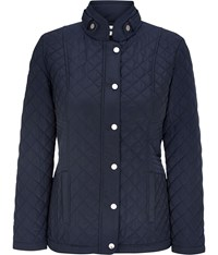 Cc Navy Quilted Short Jacket
