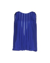 Hanita Topwear Tops Women Bright Blue