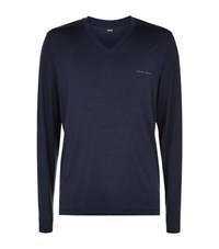 Hugo Boss Logo Lounge T Shirt Male Navy