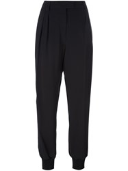 Ungaro Emanuel Pleated Tapered Trousers Black