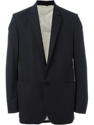 Label Under Construction Single Button Blazer Jacket Blue