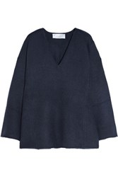 Chloe Iconic Oversized Cashmere Sweater Navy