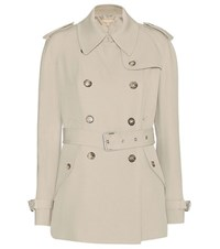 Michael Kors Wool Trench Coat Beige