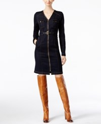 Inc International Concepts Belted Denim Shirtdress Only At Macy's Indigo