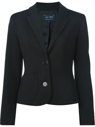 Armani Jeans Fitted Blazer Black