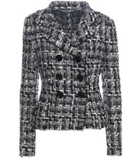 Dolce And Gabbana Wool Cotton Blend Tweed Jacket Multicoloured
