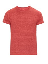 120 Lino Crew Neck Linen T Shirt Red
