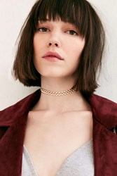 Urban Outfitters Lourdes Cord And Chain Choker Necklace Gold