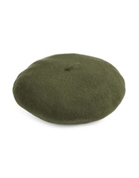 Parkhurst Water Repellent Wool Felt Beret Forest Green