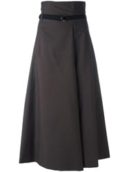 Christophe Lemaire A Line High Rise Skirt Grey