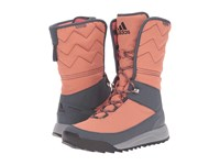 Adidas Cw Choleah High Cp Leather Raw Pink Black Utility Blue Women's Cold Weather Boots Orange