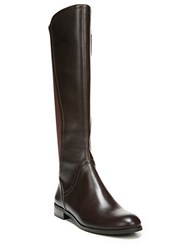 Franco Sarto Maleni Knee High Stretch Faux Leather Boots Dark Brown