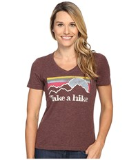 Life Is Good Take A Hike Cool Vee Earthy Brown Women's T Shirt