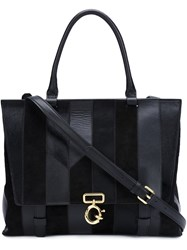Derek Lam 10 Crosby 'Ave A' Top Handle Satchel Black