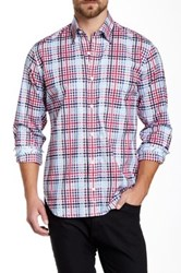 Tailorbyrd U Of Penn Regular Fit Long Sleeve Woven Shirt Red