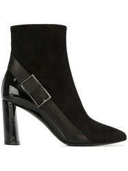 Casadei Buckle Detail Boots Black