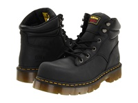 Dr. Martens Work Burnham St 6 Tie Boot Black Industrial Greasy Work Lace Up Boots Gray