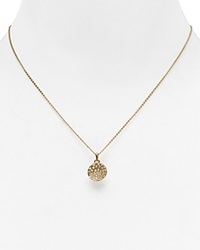 Melinda Maria Mini Nicole Necklace 17 Gold White