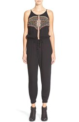 Junior Women's Rip Curl 'Ritual' Embroidered Jumpsuit