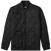 Stussy Quilted Military Jacket Black