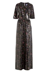 Emilio Pucci Sequin Embellished Silk Maxi Dress Multicolor