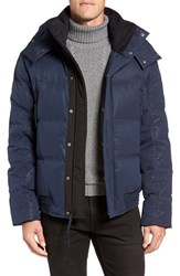 Andrew Marc New York Men's 'Summit' Embossed Down Jacket With Detachable Hood Ink