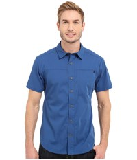 Black Diamond Short Sleeve Stretch Operator Shirt Denim Men's Clothing Blue