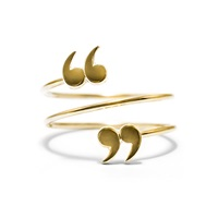 Love Is 'Quote Un Quote' Spiral Ring Gold