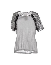 Luxury Fashion Topwear T Shirts Women Light Grey
