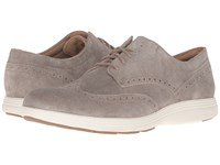 Cole Haan Grand Tour Wing Oxford Desert Taupe Suede Ivory Men's Lace Up Casual Shoes Brown